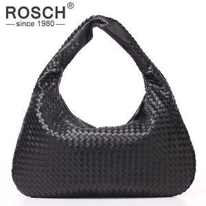 الجملة أعلى جودة أزياء اليد المنسوجة المرأة الكتف حقيبة العلامة التجارية مصمم الأسود PU حقيبة يد جلدية المنسوجة حقيبة مكتب USD الأسعار