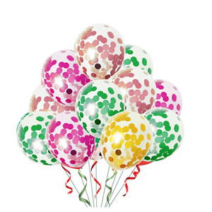 12 inch Latex Sequins Filled Clear Balloons Birthday Party Wedding Decorations Supplies