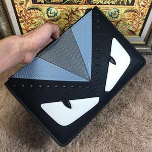 Luxus-Designer Männer Frauen Umschlag Taschen Monster-Augen-Handtaschen Hochwertige Mode Marke Unisex Rivet Taschen europäischer und amerikanischer Stil