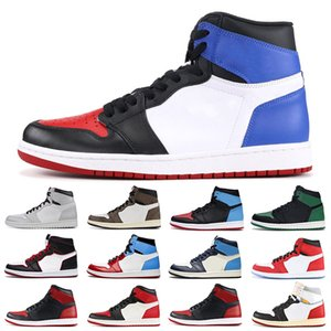 Jumpman 1 Men Women Basketball Shoes 1s Mens Trainers High Quality UNC to Chicago Banned Royal Blue Mens Sports Shoes Sneakers Free shipping