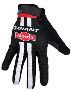 WINTER FLEECE THERMAL 2015 GIANT ALPECIN PRO TEAM Ciclismo Bike Guanti Bicicletta Gel Antiurto Sport FULL Finger Glove