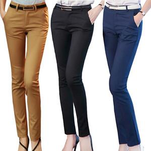 Femmes Crayon Pantalons Automne taille haute dames Bureau Pantalons Pantalons simple Femme mince moulantes élastique Pantalones Mujer