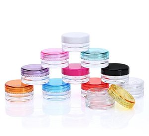1000шт Clear Small Plastic Jar Пустого пластиковый контейнер баночка горшок 3 / 5Gram Размера для Косметического Крема для глаз Тени Ногтей Powder ювелирных изделий Воск 3мл / 5мл