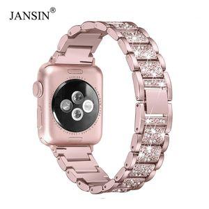 Per Apple Watch Band 40mm 44mm 38mm 42mm Donna Diamond Band per Apple Watch Series 4 3 2 1 Iwatch Bracciale Stainless Steel Strap T190705