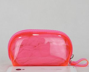Mujeres calientes raya rosa famosa marca vanidad estuche de cosméticos de lujo organizador de maquillaje bolsa de tocador bolsa de embrague boutique monedero VIP regalo