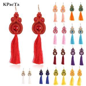 KPacTa New Fashion Soutache Long Tassel Earrings Ethnic Style Jewelry Women Popular Accessories Handmade Drop Earring Oorbellen