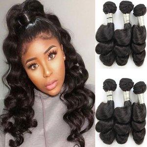 Brésil Remy cheveux dénoués Human Wave Bundles cheveux indiens péruviens non transformés 100% cheveux humains Tissages 8-28inch