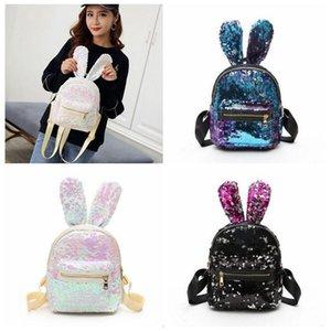 토끼 귀 가방 장식 조각이 귀여운 책가방 아이들의 책가방 패션 여자 학생 학교 가방 저장 선물 공주 가방 여행 가방 C590