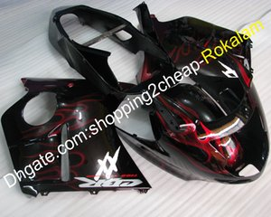 Cubierta de motocicleta para Honda 1996-2007 Carenados Blackbird CBR1100XX 96-07 CBR 1100 XX Kit de carenado del cuerpo de llama roja (moldeo por inyección)