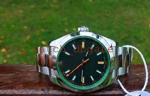 Mens Superlative Limited Edition ETA 2813 Watch Men Black Dial 116400 Full 316 Steel Sapphire 116400GV Dive Sapphire Watches