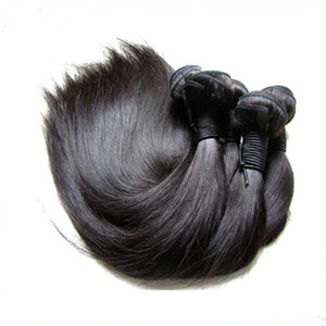 Wholesale - Guangzhou Hair Shop Supplier 9A Brazilian Virgin Hair Bundles Silk Straight 5Pieces 500G Lot Natural Color From One Donor