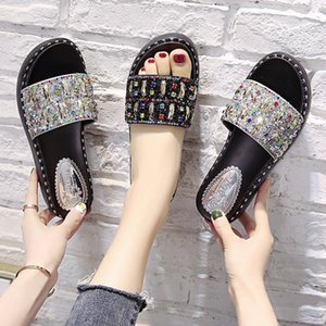 Slippers Women Wear Ins Tide 2020 New Summer High-heeled Sandals Trawl Red Sandals Sponge Cake Thick Bottom Wedge Fashion