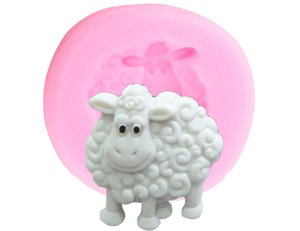 2020 Sheep Silicone Mold 3D Animals Candy Chocolate Fondant Molds DIY Baby Birthday Cake Decorating Tools Cupcake Cookie Baking Mould