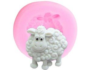 2020 Sheep silicone Moule 3D Animaux Bonbons Fondant au chocolat bricolage Moisissures bébé gâteau d'anniversaire de décoration Outils de petit gâteau biscuit cuisson moule