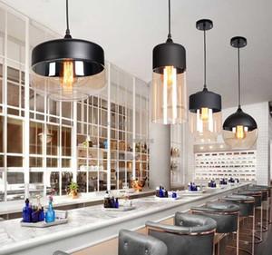 American Glass lámpara de retro creativo restaurante Loft iluminación de la lámpara industrial Cafetería plato de frotamiento Tienda Araña