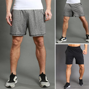 Men Elastic Waistband Quick Drying Pockets Gym Sports Running Exercise Shorts Plus Size Short Men Male