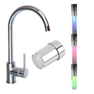 1pc LED Light Sensor de temperatura da água Faucet Tap Inteligente cor Reconhecimento Temperatura 3 RGB mudança Água da torneira torneira do chuveiro