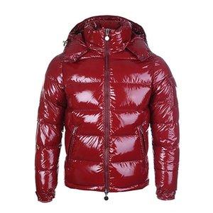 designer francese rosso giù il cappotto invernale piumino per gli uomini con giacca calda di spessore per gli uomini breve piuma d'oca per la fascia alta degli uomini del 2020