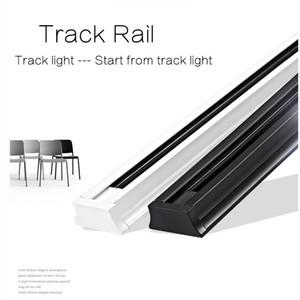 Dhl 4 قطعة / الوحدة 1 متر 1.5 متر 2 المرحلة الألومنيوم المسار السكك الحديدية ضوء السكك الحديدية مع موصلات مجانية العالمي القضبان الإضاءة تركيبات 2-سلك سميكة المسار