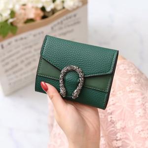 Portafoglio stile coreano donne retrò Designer pieghevoli Portafogli borsa corto PU Burse Fashion Girls Pouch borsa Solid mini supporto della carta ID Portafoglio
