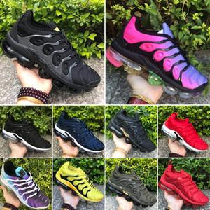 2020 Hot Cheap 2018 TN plus Formateurs Hommes Femmes Chaussures de course Sport Triple Noir Blanc Rouge Jaune Vert Olive Sneakers Taille US5.5-11