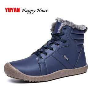 Mens Snow Boots 2019 Winter Shoes Waterproof Warm Plush for Cold Winter Soft Leather Men's Boots KA221