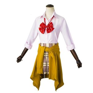 Citrus Costume Aihara Yuzu Aihara Mei School Uniform With Headband Halloween Christmas Cosplay Costume Party Dress