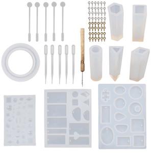 Set di stampi fai-da-te Bracciale ciondolo Set di stampi in silicone Kit di stampi in cristallo Imballaggio portatile con vari stili 22sr J1