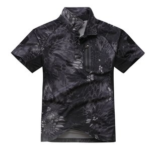 Shanghai Story Men's Tactical Army Hunting Polo Shirt Short Sleeve Top