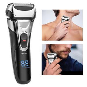 Elektrorasierer für Mann Edelstahl Rasiermaschine USB aufladbare Triple-Floating-Klingen-Rasierer Rasierer Barbeador Eletrico Hubkolben