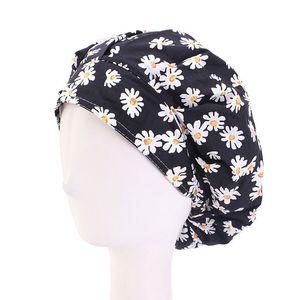 Nuovo cotone Cap Cura dei capelli regolabile Parasudore fasciatura Chef Cappelli Working Mens Bouffant Headwear Nurse Accessori per capelli