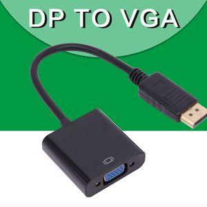 Displayport Displayport DP zum VGA-Adapter-Kabel Stecker-Buchse Konverter für PC Computer-Laptop-HDTV-Monitor-Projektor mit OppBag MQ50