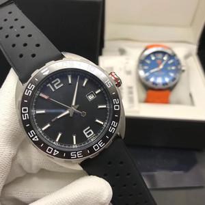 F1 reloj serie de deportes de los hombres, caja de acero de precisión, de diámetro 43 mm, movimiento mecánico totalmente automático, la boca anillo de cerámica