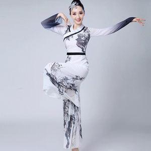 klassische traditionelle Folk und ethnische Tanzkleidung Nationaltanz China Fan Yongo alten chinesischen Volk Kleidung 3XL