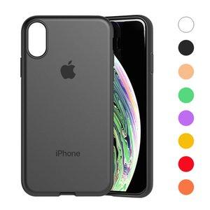 Apple iPhone için Koruyucu Kılıflar iPhone X XR XS Max 8 7 Artı Esnek TPU Slim Fit Kapak Kılıf