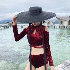 Wide Brim Black Straw Hat Women Long Ribbon Vintage Style Summer Hats Lace-Up Vacation Beach Sun Hat UV Protection Visor Cap