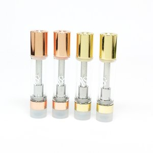 Rose Gold monouso vuoto CCS VVS cartuccia Premium Vape 0.8ml ceramica Coil Spesso Oil 510 Carrelli vaporizzatore atomizzatore DIME Muha Med