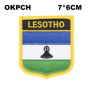 Утюг Лесото Флаг Вышивка на Патч Вышивка Патчи Значки для Одежды PT0099-S