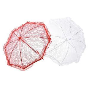 Bride parapluie parapluies demoiselle d'honneur dentelle délicate parapluie studio élégant performance scénique coton broderie parapluies dentelle antique LXL357