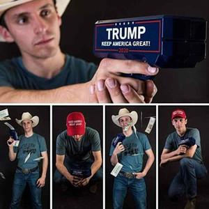 Дональд Трамп Деньги Gun Keep America Great 2020 Trump Printed президент США Деньги пушек с Trump Dollar Bill Party Favor ZZA2201 48PcsN