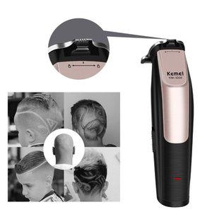 Kemei Cordless Modelling Haar Bartschneider Wiederaufladbare Haarschneider elektrisch verstellbare Clipper 0mm Baldheaded Trimmer KM-3202
