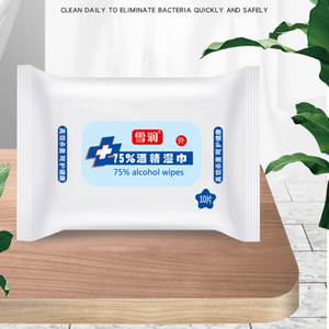 10sheets pack Disinfection Antiseptic Wet Wipes Alcohol Swabs Pads Skin Cleaning Care Sterilization First Aid Cleaning Wet Wipe DBC BH3308