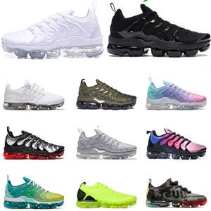 2020 vapormaxAir Maxtn artı erkek koşu ayakkabıları üçlü siyah beyaz Hiper Viole hız Gri Spor Spor ayakkabılar Eğitmenlerini 36-45 Soğuk kırmızı