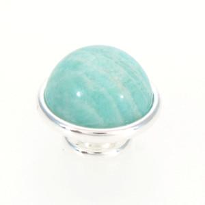 Amazonite Jewelpops For Kameleon Jewelry bracelet,necklace,ring,925 silver plating