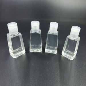 30 мл дезинфицирующее средство для рук гель трапециевидная бутылка прозрачная жидкая бутылка PET sub-packing squeeze Packing бутылка мыло для рук Dropshipping B1601