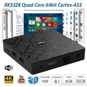 HK1 max Android TV Box RK3328 Rockchip DDR3 4GB EMMC 32GB Android 8.1 TV Box 4k HD WIFI 2.4G Media Player