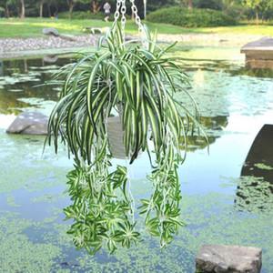 Künstliche Blume Bracketplant Chlorophytum Orchids Rattan Wandbehang Seidenblume Künstliche Pflanze Home Shop Decor
