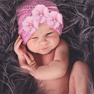 الوليد التصوير الدعائم الملحقات المولود الجديد قبعة عمامة أطفال بوي القبعات طفل فتاة بونيه قبعة