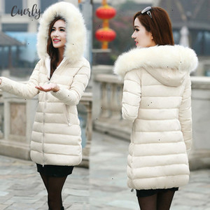 Sale Womens Hot Coat Korean Version Long Cotton Padded Ladys Thicker Cotton Jacket Down Parka 1509