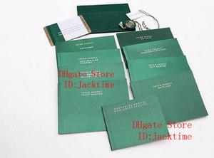 Documentos originales Corregir superior más nuevo verde bolsas de regalo de Rolex Cajas de folletos Relojes por encargo libre Imprimir Modelo Tarjeta de Número de Serie